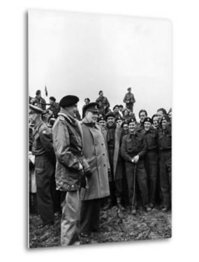 English PM Winston Churchill and British Army General Bernard Montgomery by George Rodger