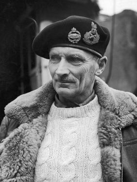 General Bernard L. Montgomery, in Command of British 8th Army During Drive Through Italy, 1944 by George Rodger