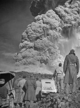 Servicemen Viewing Eruption of Volcano Mount Vesuvius by George Rodger