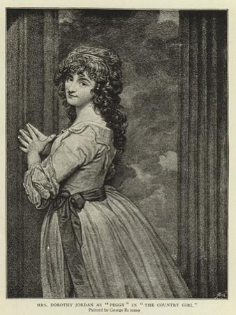 Mrs Dorothy Jordan as Peggy in The Country Girl