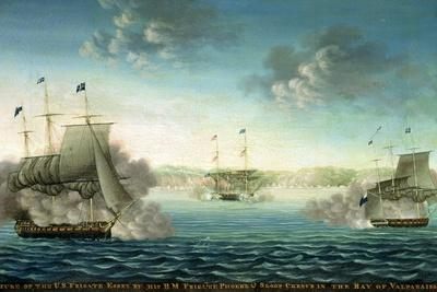 Capture of the Us Frigate 'Essex' by B.M Frigate 'Phoebe' and Sloop 'Cherub' in the Bay of…