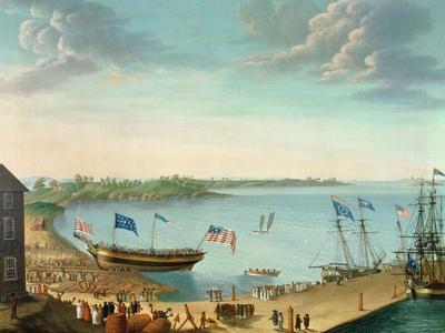 Launching of the Ship 'Fame', 1802