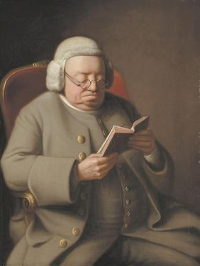 Portrait of Isaac Brodeau Reading a Book, 18th Century by George Roth