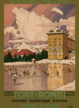 Chemins de Fer du Midi, Font-Romeu France c.1920s by George Roux