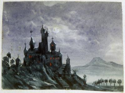 Fantasy Castle in Moonlight I, 1820-1876