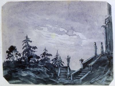 Fantasy Castle in Moonlight Ii, 1820-1876