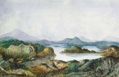 Landscape with a Lake (W/C on Paper)