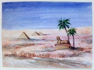 Sphinx and Pyramids, Giza I, 1820-1876