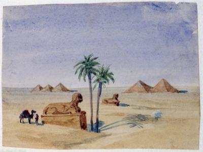 Sphinx and Pyramids, Giza II, 1820-1876