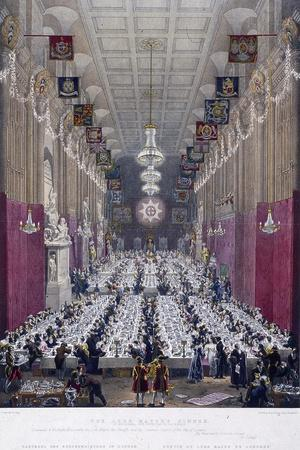 The Lord Mayor's Dinner at Guildhall, London, 1829