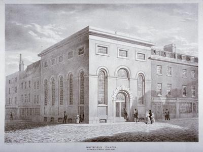 Whitefield Chapel on Charles Street, Westminster, London, C1841