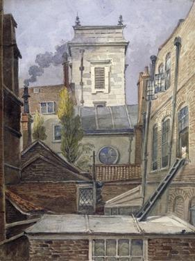 The Tower of the Church of St George Botolph Lane, City of London, C1830 by George Shepheard