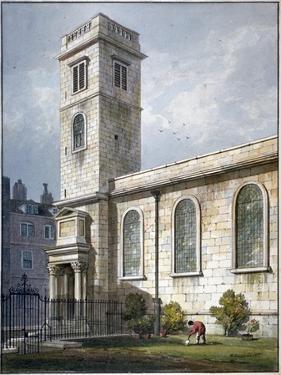 All Hallows Church, Lombard Street, London, 1811 by George Shepherd