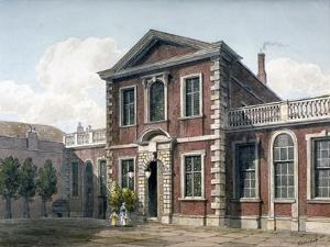 Barber Surgeons' Hall and Courtyard, City of London, 1812 by George Shepherd