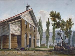 Beaufoy's Vinegar Works on the Site of Cuper's Gardens, Lambeth, London, 1809 by George Shepherd