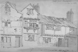 Buildings in Castle Yard, Blackfriars, City of London, 1808 by George Shepherd