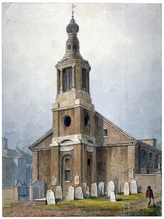 Church of St Anne, Dean Street, Soho, London, 1828