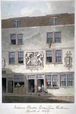 Fortune Theatre, Golden Lane, London, 1811 by George Shepherd