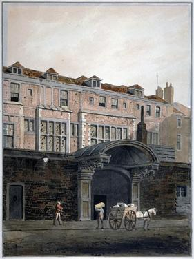 Gateway of Winchester Place, London, 1820 by George Shepherd