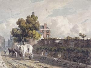 London Wall, London, 1811 by George Shepherd