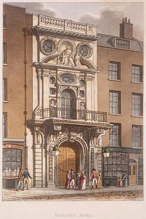 Mercers' Hall, London, 1815