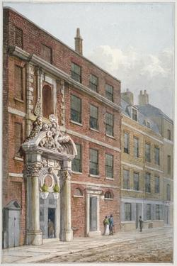 Merchant Taylors' Hall, Threadneedle Street, City of London, 1810 by George Shepherd