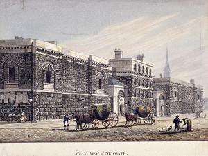 Newgate Prison, Old Bailey, London, C1815 by George Shepherd