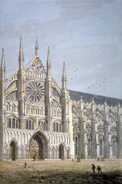 North Door of Westminster Abbey, London, C1810 by George Shepherd