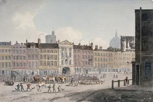 Smithfield Market, City of London, 1810 by George Shepherd