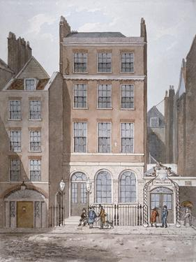 Snow's Banking House and Twining's Tea Merchants, Strand, Westminster, London, C1810 by George Shepherd