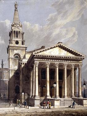 St George, Bloomsbury, Holborn, London, 1811 by George Shepherd