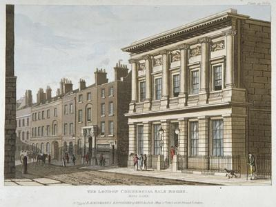 The London Commercial Sale Rooms and Mincing Lane, City of London, 1813