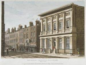 The London Commercial Sale Rooms and Mincing Lane, City of London, 1813 by George Shepherd