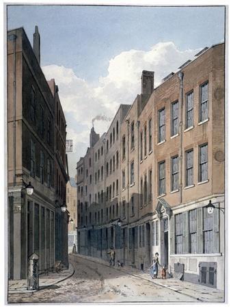 View of Bucklersbury, City of London, C1810