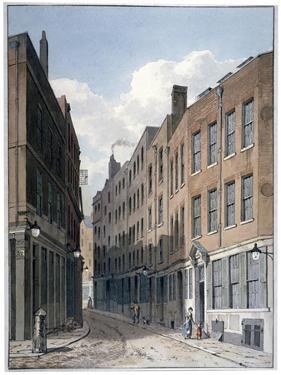 View of Bucklersbury, City of London, C1810 by George Shepherd