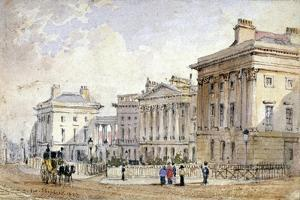 View of Clarence Terrace in Regent's Park, London, 1827 by George Shepherd