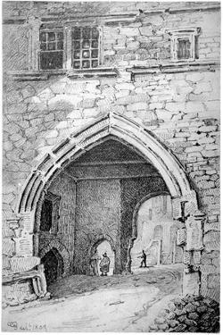 View of King John's Gate in the Abbey of St Saviour, Bermondsey, London, 1807 by George Shepherd