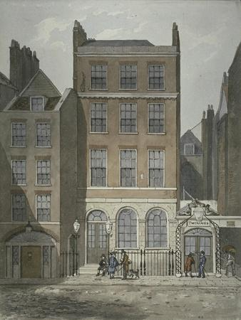 View of Snow's Banking House and Twining's Tea Merchants, Strand, Westminster, C.1810