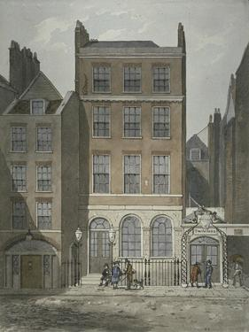 View of Snow's Banking House and Twining's Tea Merchants, Strand, Westminster, C.1810 by George Shepherd