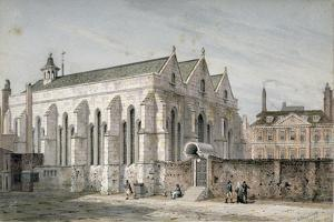 View of Temple Church, City of London, 1811 by George Shepherd