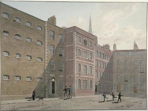 View of the Quadrangle at Bridewell, City of London, 1810 by George Shepherd