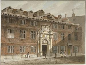 West Front of Blackwell Hall, King Street, City of London, 1811 by George Shepherd