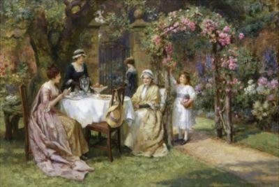 The Tea Party by George Sheridan Knowles
