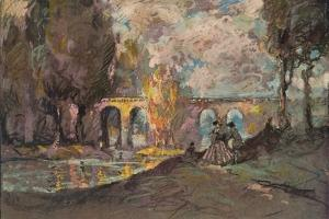 'A Landscape Time Sketch', c1916 by George Sheringham