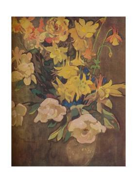 'Amber Flowers', c20th century by George Sheringham