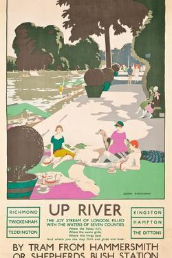 Up River, a London Transport Poster, 1926 by George Sheringham