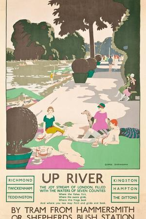 Up River, a London Transport Poster, 1926