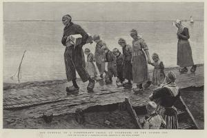 The Funeral of a Fisherman's Child, at Volendam, on the Zuider Ze by George Sherwood Hunter