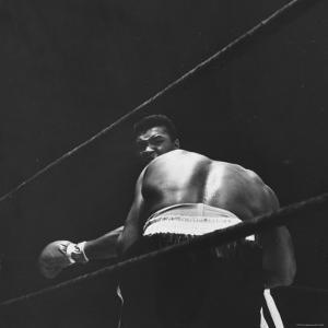 1965 Boxing Match Between the Heavyweight Champ Sonny Liston and Challenger Cassius Clay by George Silk