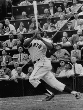 Baseball Player Orlando Cepeda Hitting a Ball by George Silk